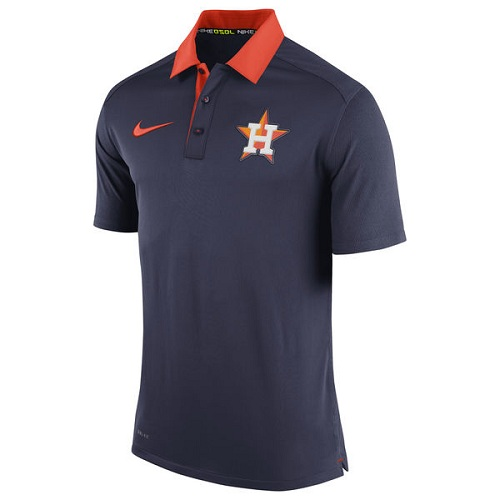MLB Men's Houston Astros Nike Navy Authentic Collection Dri-FIT Elite Polo
