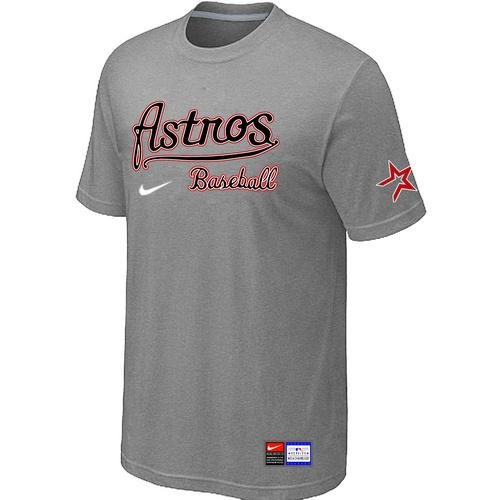 MLB Men's Houston Astros Nike Practice T-Shirt - Grey