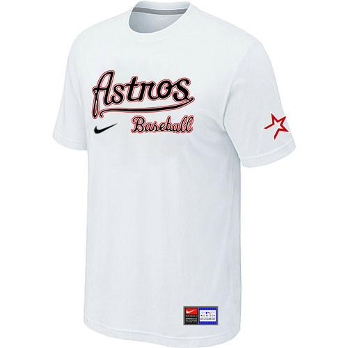 MLB Men's Houston Astros Nike Practice T-Shirt - White
