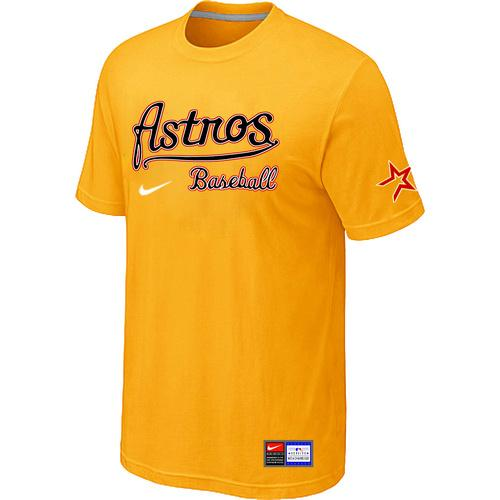 MLB Men's Houston Astros Nike Practice T-Shirt - Yellow