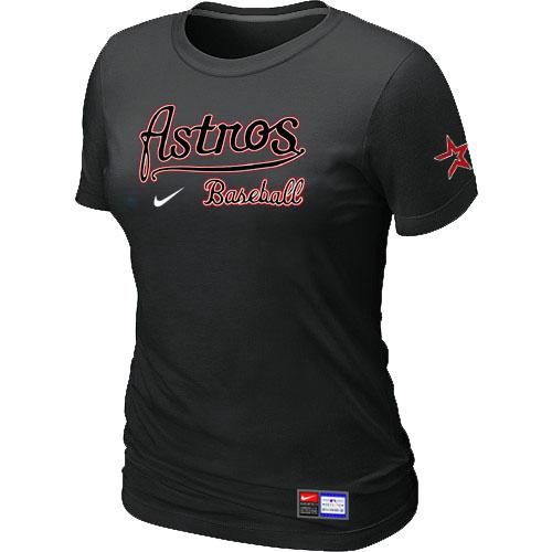 MLB Women's Houston Astros Nike Practice T-Shirt - Black